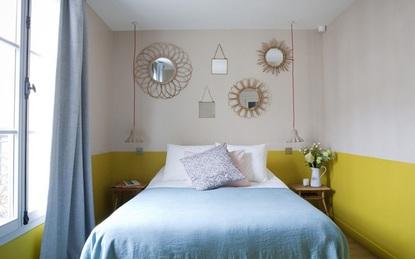Phòng ngủ với tường sơn một nửa - xu hướng cực hot cho năm 2017