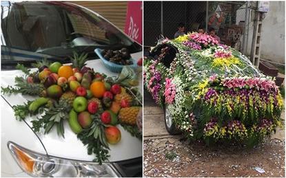 Kinh ngạc với những chiếc xe hoa bá đạo của dâu - rể Việt