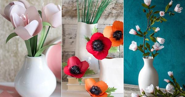 3 cách làm hoa giấy trang trí nhà đẹp xinh yêu