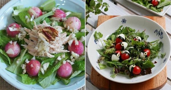 Giảm cân giữ dáng với 2 công thức chế biến salad rau