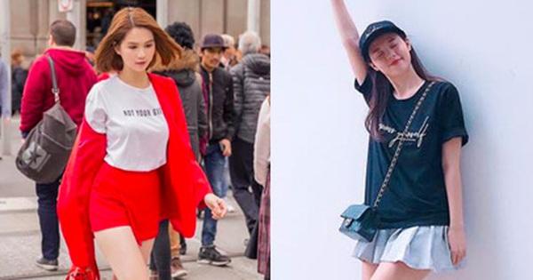 """Ngọc Trinh khoe tóc mới trẻ măng, Midu cũng diện một cây đồ """"teen"""" chẳng kém trong street style tuần này"""