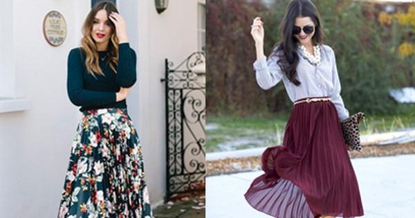 Chân váy midi dáng xòe – muốn mặc đẹp không hề khó!