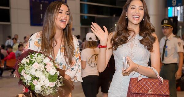 Phạm Hương xinh đẹp đến ngỡ ngàng khi đứng cạnh đương kim Nữ hoàng sắc đẹp Mỹ Latin