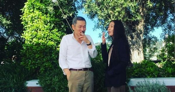 Cặp đôi tai tiếng Kim Min Hee và đạo diễn già Hong Sang Soo tươi cười sánh bước tại LHP Cannes
