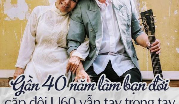 Gần 40 năm làm bạn đời, cặp đôi U60 vẫn tay trong tay dịu dàng, hạnh phúc
