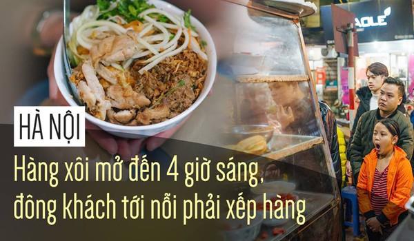 Hà Nội: Hàng xôi mở đến 4 giờ sáng, đông khách tới nỗi phải xếp hàng