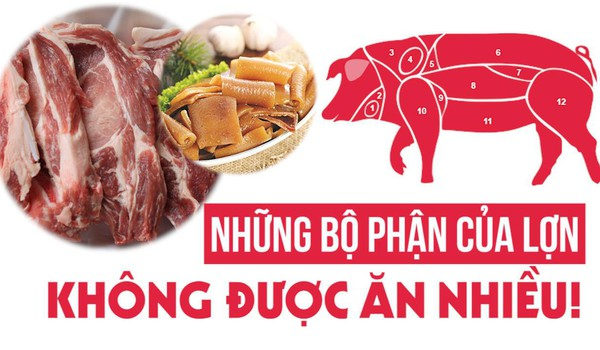 Những bộ phận của lợn không được ăn nhiều!