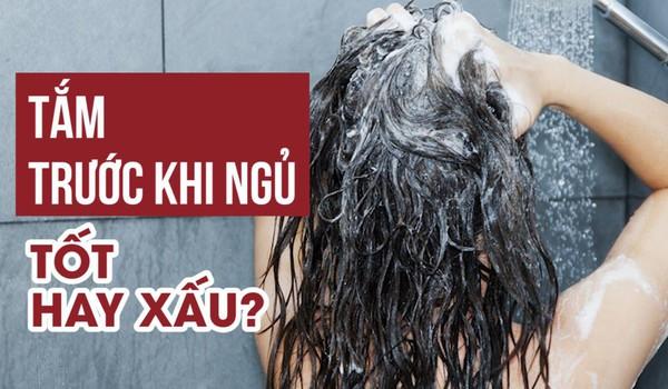 Tắm trước khi ngủ - Tốt hay xấu?