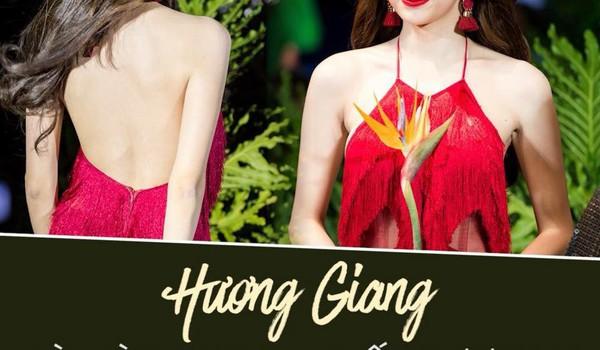 Hương Giang lần đầu làm vedette quá ấn tượng trên đôi guốc cao 25cm