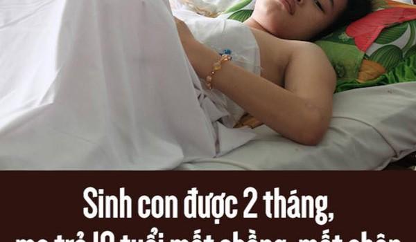 Sinh con được 2 tháng, mẹ trẻ 18 tuổi mất chồng, mất chân vì bị container cán qua người