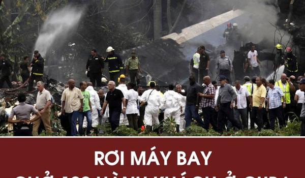Rơi máy bay ở Cuba chở 100 hành khách, chỉ có 3 người sống sót