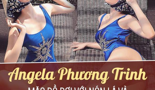 Angela Phương Trinh mặc đồ bơi với nón lá và chít khăn kín bưng