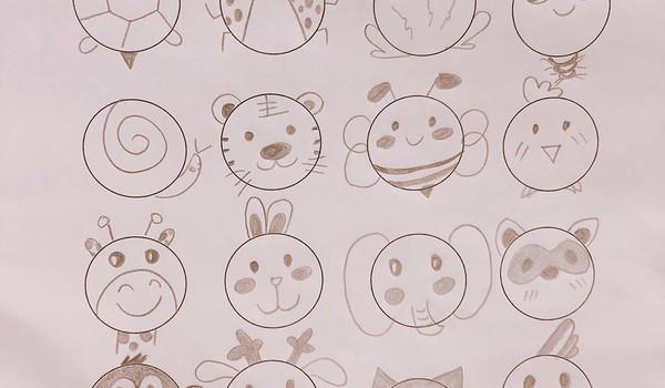 Vẽ các con vật siêu đáng yêu chỉ với 1 vòng tròn
