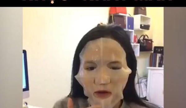 """Pha đắp mặt nạ """"nhục"""" nhất mạng xã hội"""