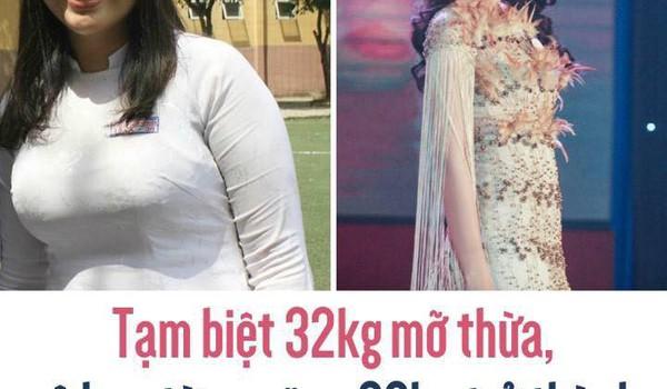 Tạm biệt 32kg mỡ thừa, cô bạn từng nặng 90kg trở thành Hoa khôi ĐH Ngoại Thương
