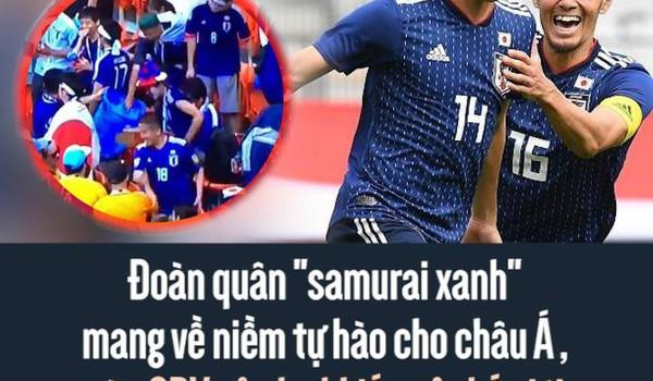 """Đoàn quân """"samurai xanh"""" mang về niềm tự hào cho châu Á, còn CĐV của họ khiến cả thế giới ngợi khen vì điều này..."""