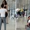 Cặp đôi hồn nhiên tập squat, bồng bế nhau như nâng tạ ở giữa sân bay khiến nhiều người ngỡ ngàng