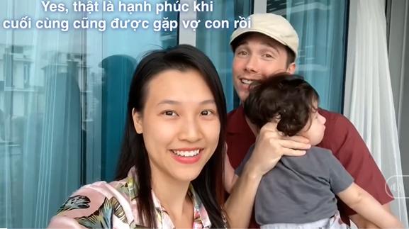 Á hậu Hoàng Oanh khoe khoảnh khắc ngọt ngào của gia đình nhỏ, quý tử gây chú ý nhất vì biểu cảm khi nhìn bố - Ảnh 3.
