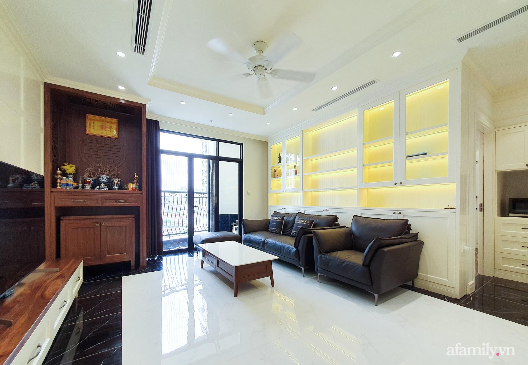 Căn hộ 121m² đẹp sang chảnh với phong cách bán cổ điển ở Hà Nội - Ảnh 3.
