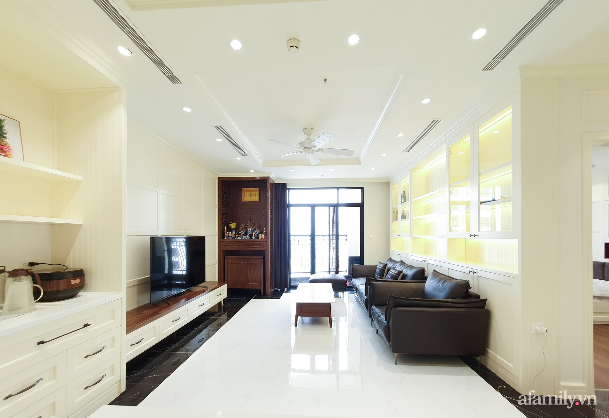 Căn hộ 121m² đẹp sang chảnh với phong cách bán cổ điển ở Hà Nội - Ảnh 5.