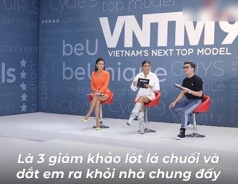"""Vietnam's Next Top Model: Hotboy xứ Nghệ vác bụng mỡ đi catwalk, Nam Trung mỉa mai không giảm cân sẽ """"lót lá chuối"""" mời về - Ảnh 4."""