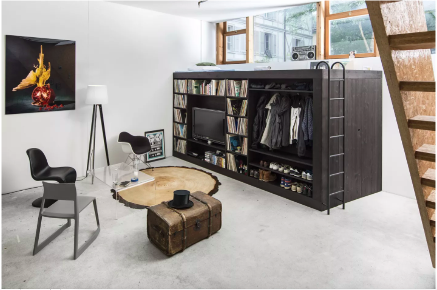 Những ý tưởng siêu thú vị và tiện ích bố trí giường gác xép cho căn hộ nhỏ - Ảnh 3.