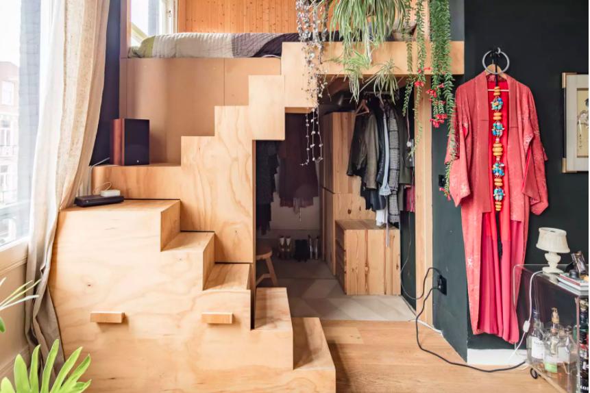 Những ý tưởng siêu thú vị và tiện ích bố trí giường gác xép cho căn hộ nhỏ - Ảnh 4.