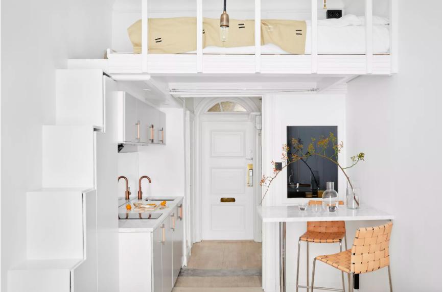 Những ý tưởng siêu thú vị và tiện ích bố trí giường gác xép cho căn hộ nhỏ - Ảnh 2.