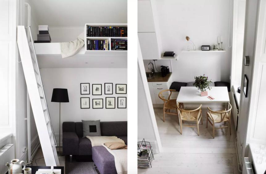 Những ý tưởng siêu thú vị và tiện ích bố trí giường gác xép cho căn hộ nhỏ - Ảnh 9.