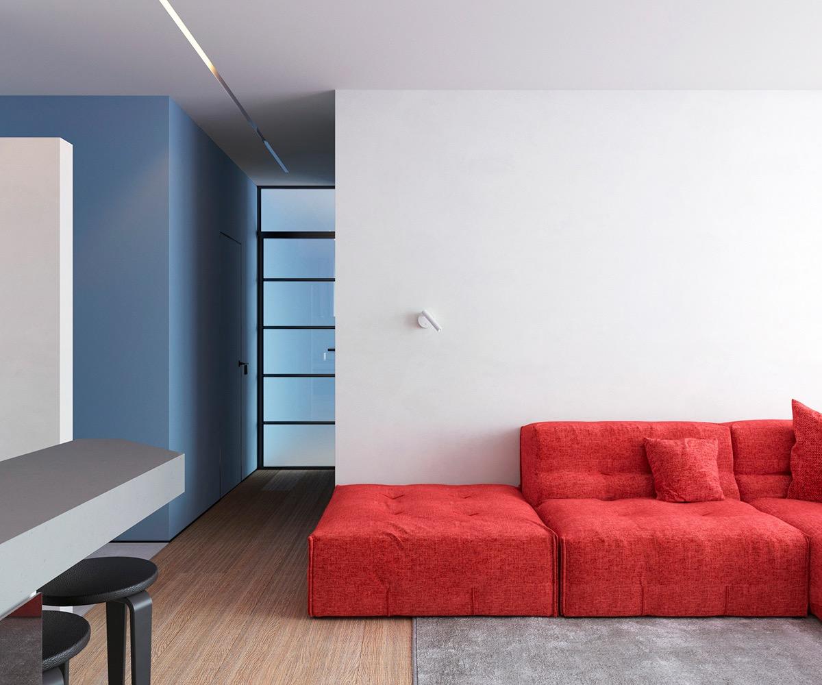 Những căn hộ một sàn với tổng diện tích chưa đến 65m2 cùng thiết kế thú vị khiến bạn thích mê - Ảnh 19.