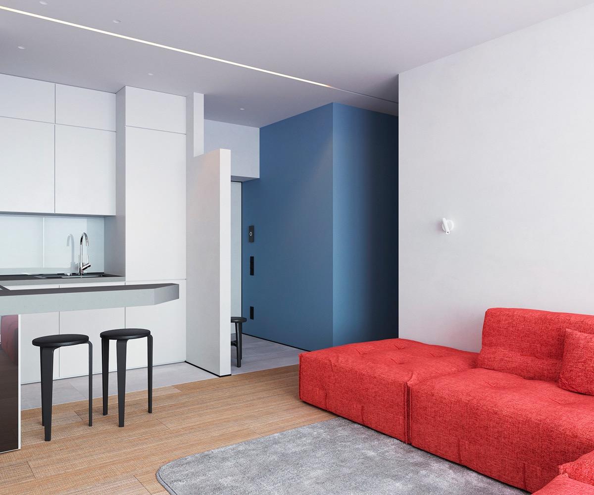Những căn hộ một sàn với tổng diện tích chưa đến 65m2 cùng thiết kế thú vị khiến bạn thích mê - Ảnh 20.
