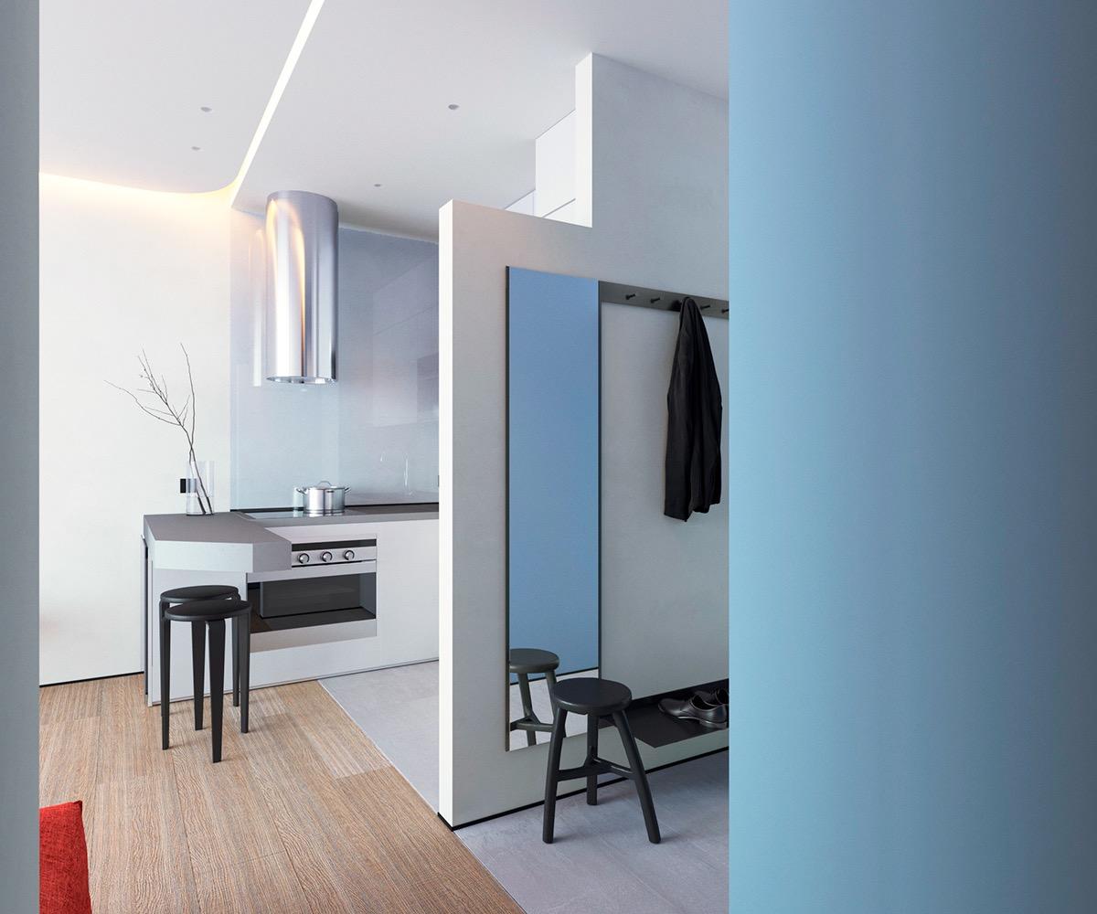 Những căn hộ một sàn với tổng diện tích chưa đến 65m2 cùng thiết kế thú vị khiến bạn thích mê - Ảnh 23.