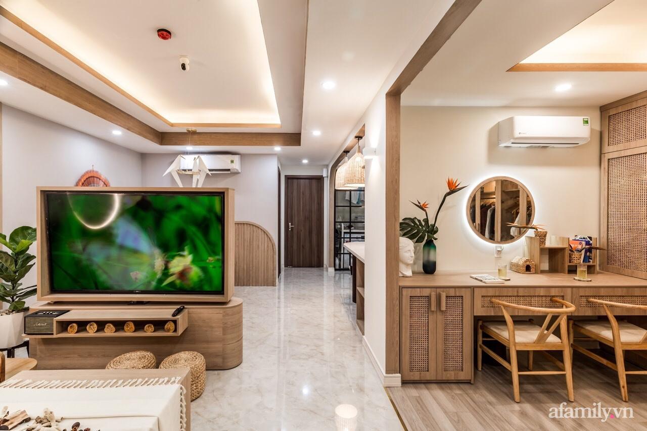 """Căn hộ 75m² """"ghi điểm"""" với thiết kế phong cách Nhật tinh tế có chi phí hoàn thiện 400 triệu đồng ở Sài Gòn - Ảnh 3."""