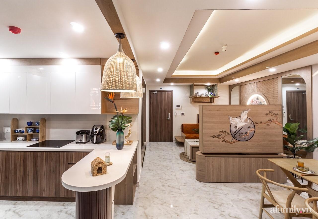 """Căn hộ 75m² """"ghi điểm"""" với thiết kế phong cách Nhật tinh tế có chi phí hoàn thiện 400 triệu đồng ở Sài Gòn - Ảnh 11."""