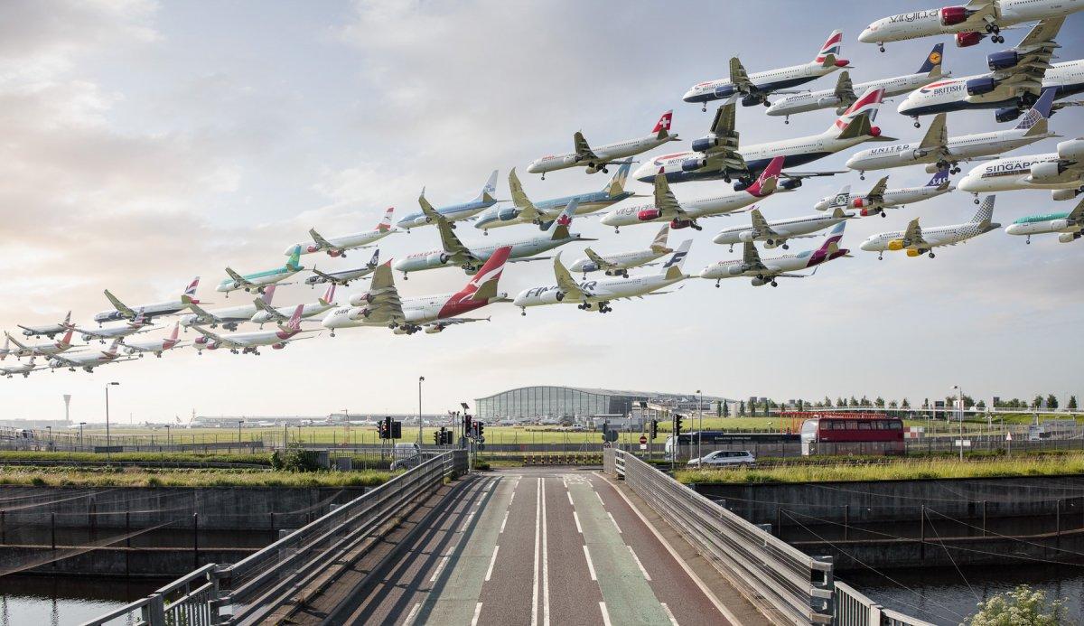 Bức ảnh này đã khiến nhiếp ảnh gia bay tới London tới... 3 lần. Gió và ánh sáng thay đổi liên tục khiến anh không ưng ý