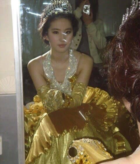 Nữ thần Kim Ưng: Lưu Diệc Phi mặc váy như rèm cửa, để mặt mộc ở 14 năm trước còn đẹp hơn Tống Thiến  - Ảnh 6.