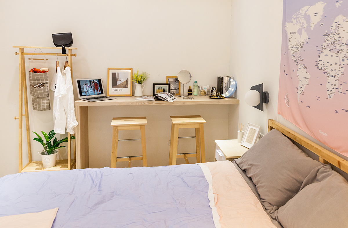 Bóc giá phòng ngủ cải tạo theo phong cách Bắc Âu đẹp lôi cuốn từng góc nhỏ chỉ... triệu đồng - Ảnh 6.