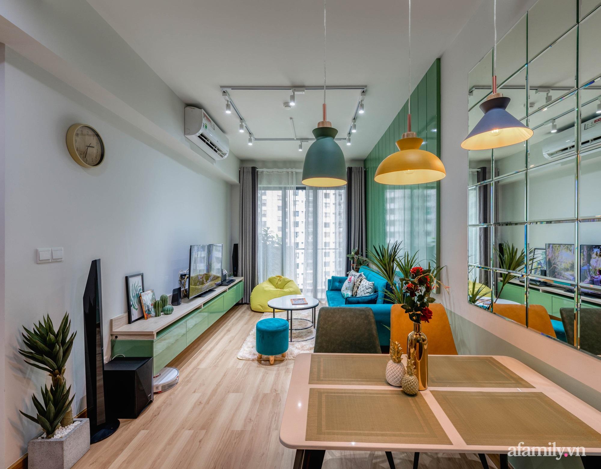 Căn hộ 69m² tạo dấu ấn đặc biệt với phong cách Tropical có chi phí thi công 180 triệu đồng ở Sài Gòn - Ảnh 3.