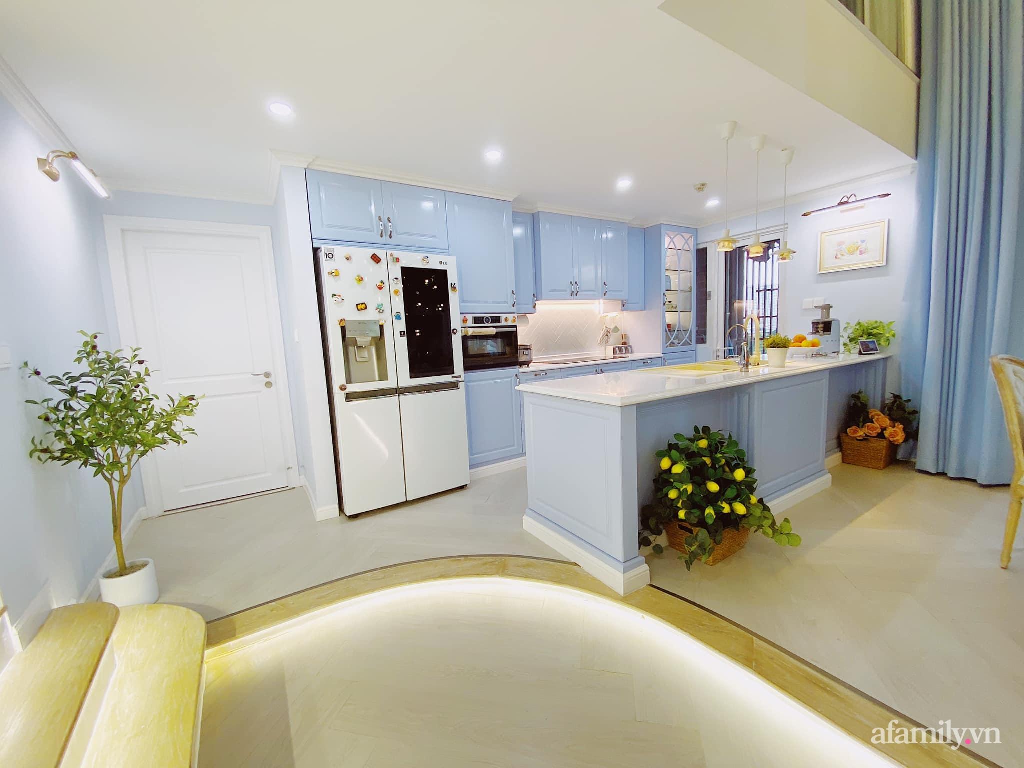 Căn bếp màu xanh yên bình, sang trọng với đủ thiết bị hiện đại của mẹ trẻ xinh đẹp Sài Thành - Ảnh 2.
