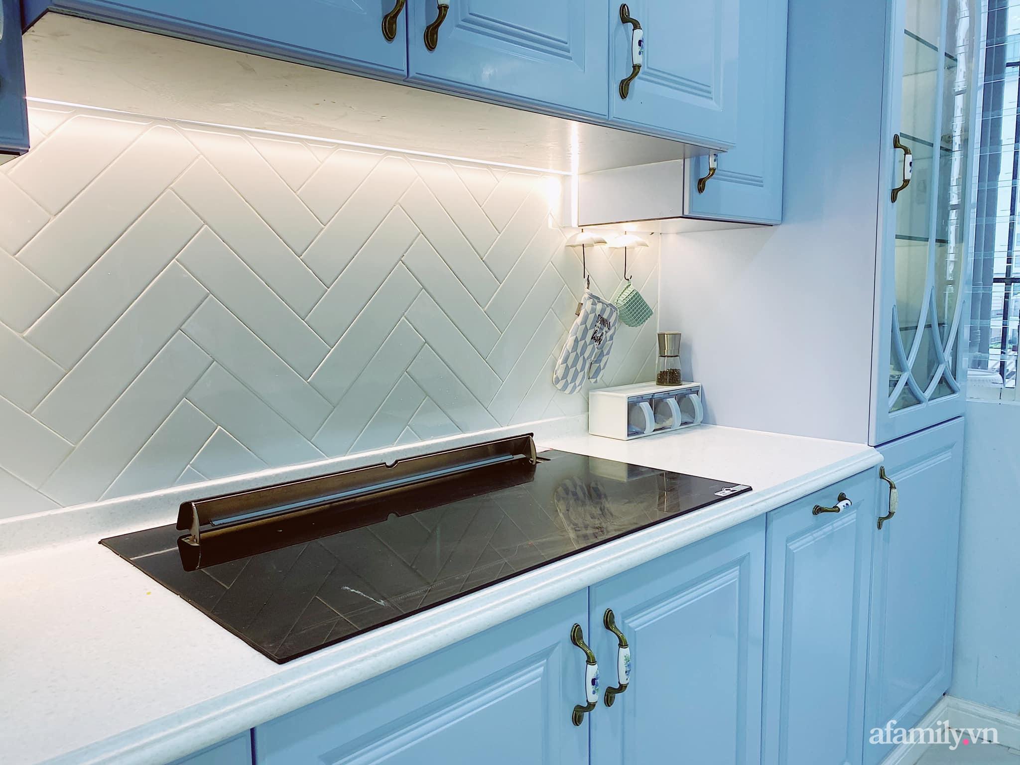 Căn bếp màu xanh yên bình, sang trọng với đủ thiết bị hiện đại của mẹ trẻ xinh đẹp Sài Thành - Ảnh 7.