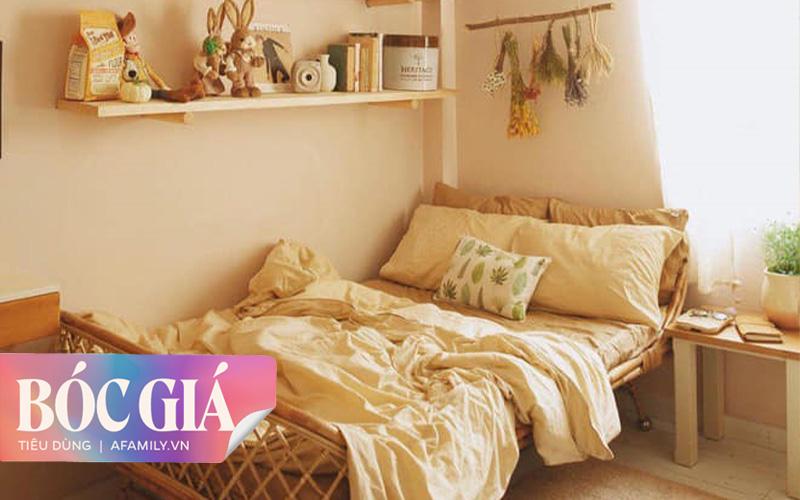 Sở hữu ngay phòng ngủ vintage đẹp như mơ thường thấy trên tạp chí chỉ với 7,8 triệu nhờ tư vấn mua 10 món đồ từ bà chủ shop decor ở Hà Nội