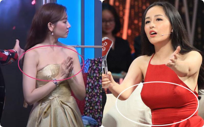 """Sao Việt và những pha """"lộ nguyên hình"""" trên sóng truyền hình: Người ngấn mỡ bụng, người lộ mỡ lưng bèo nhèo"""