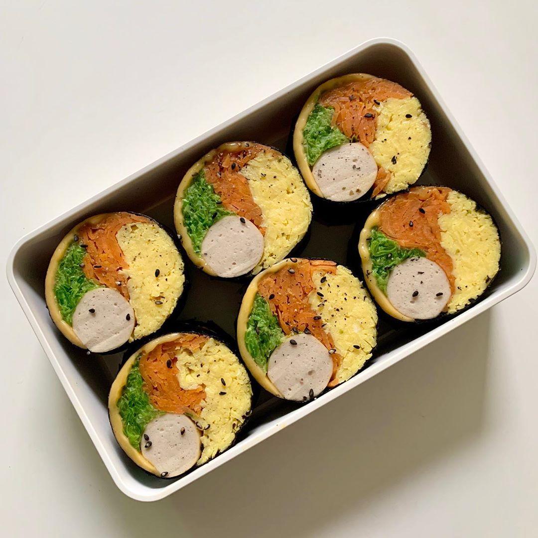 """Trend mới của gái Hàn: Ăn kimbab """"thay cơm bằng trứng"""" để giảm cân, chị em mau vào hóng ngay còn kịp - Ảnh 1."""