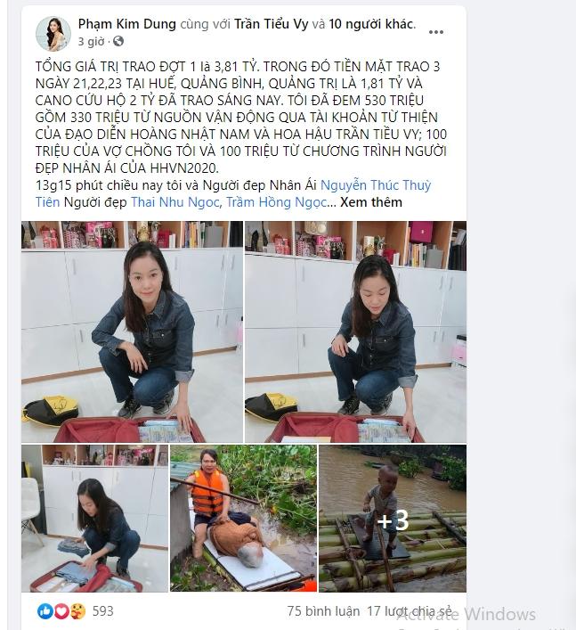 """""""Bà trùm Hoa hậu"""" mang vali tiền đi cứu trợ miền Trung, Hoa hậu Tiểu Vy, Đỗ Mỹ Linh sẵn sàng lên đường - Ảnh 2."""