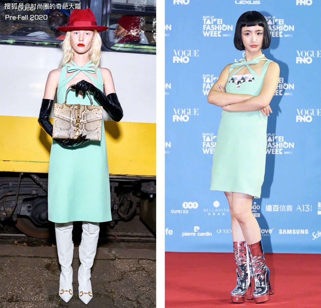 """2 nữ thần thanh xuân gây thất vọng tại Tuần lễ thời trang Đài Bắc 2020: Nàng đơ như """"robot"""", nàng dìm dáng thậm tệ với bộ đầm """"chằng chịt"""" - Ảnh 2."""