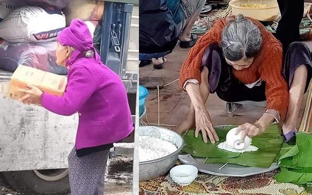 Xúc động hình ảnh những cụ bà còng lưng bê mì gói, quần áo, gói bánh gửi ra miền Trung với lời nhắn: Cho mẹ gửi chút tình thương với đồng bào mình!