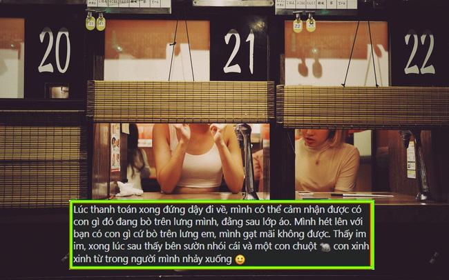 """Nữ thực khách tố đi ăn nhà hàng kiểu Nhật ở Hà Nội bị chuột bò lên lưng rồi cắn đúng tối 20/10, nhưng bị ức chế hơn là lời xin lỗi vô cùng """"lạ"""" từ nhân viên?"""