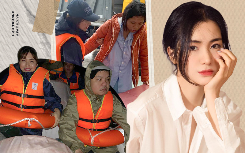 """Phỏng vấn nóng Hòa Minzy: Chồng giận vì """"trốn"""" đi từ thiện, thót tim chuyện đưa thai phụ đi cấp cứu giữa cơn lũ  - Ảnh 1."""