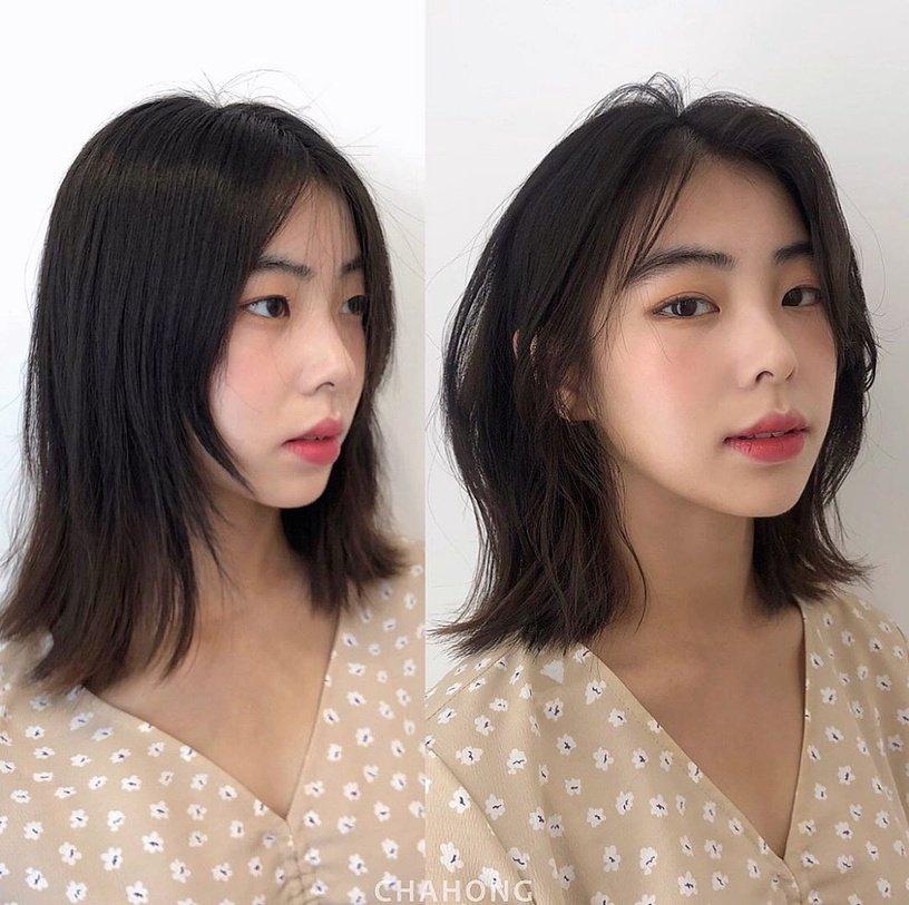 Gái Hàn có chiêu làm tóc biến mặt từ tròn thành thanh thoát mà hay nhất là cực đơn giản và không cần ra tiệm - Ảnh 4.