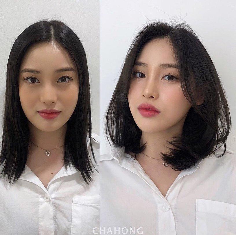 Gái Hàn có chiêu làm tóc biến mặt từ tròn thành thanh thoát mà hay nhất là cực đơn giản và không cần ra tiệm - Ảnh 3.